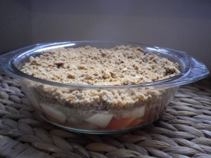 rhubarb gingerbread crumble